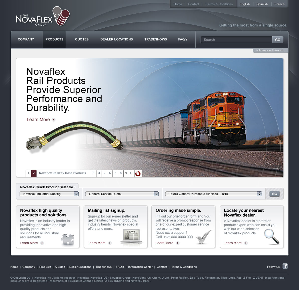 NovaFlex website